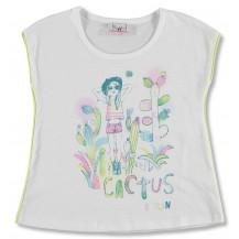 Camiseta m/corta blanca muñeca y captus