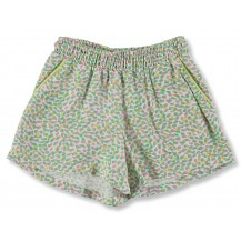 Short niña estampado verde
