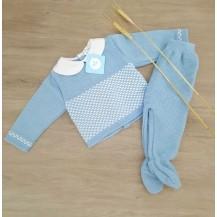Conjunto dos piezas polaina Marcelo azulado