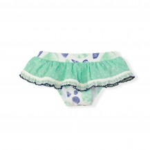 Culetin bebé verde agua conchas