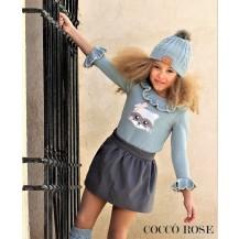 Conjunto falda y jersey mapache