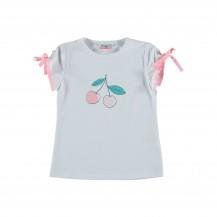Camiseta mesina cerezas rosa