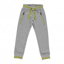 Pantalón chándal gris jaspeado con verde