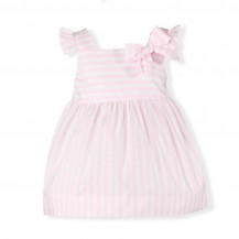 Vestido tirantes rayas rosa y blanco