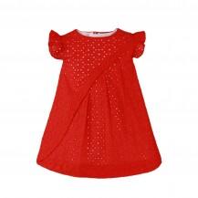 Vestido bebé rojo brocado