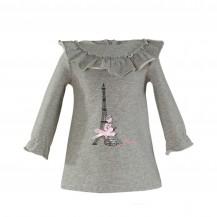Vestido algodón gris faro