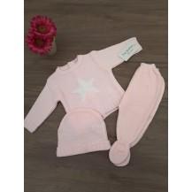 Conjunto tres piezas estrella rosa