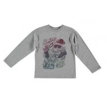 Camiseta rock gris