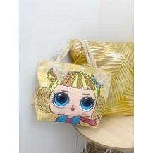 Bolso muñeca  + monedero amarillo