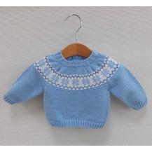 Jersey modelo snow azulado