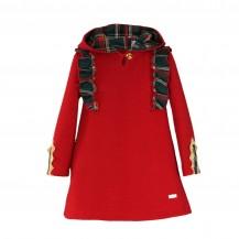 Vestido infantil sudadera rojo cuadros