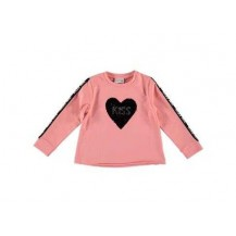 Sudadera rosa corazón lentejuelas