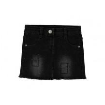 Falda negra tachuelas