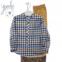 Conjunto pantalon y camisa caramelo