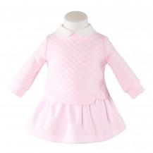 Vestido rosa doble sudadera