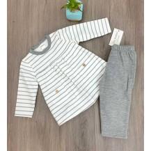 Chándal niña gris rayas y bolsillos gris