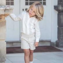 Pantalón corto beig tostado vestir