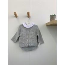 Conjunto braguita + blusa + chaqueta gris bodoques