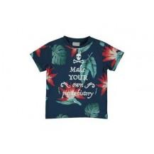 Camiseta hojas calavera