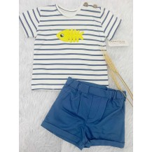 Conjunto camiseta pez + pantalón