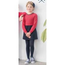 Vestido sport cuadros rojo y marino