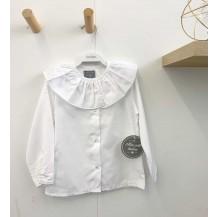 Camisa blanca cuello