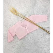 Chaqueta corta ondas rosa fuerte
