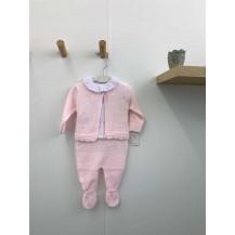 Conjunto polaina+blusa+chaqueta bodoques rosa