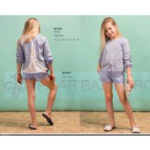 Short + blusa plumeti celeste