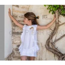 Vestido rayas blancas volantes