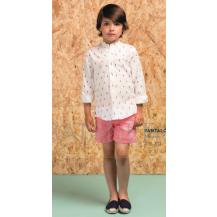 Conjunto pantalón chino fresa + camisa caballito de mar