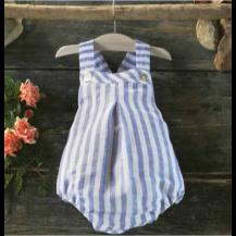 Ranita lino rayas azul
