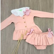 Sudadera + braguita + blusa rosa palo
