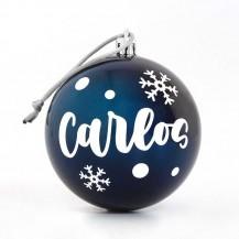 Bola navidad azul personalizada