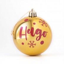 Bola navidad dorado personalizada