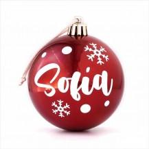 Bola navidad roja personalizada