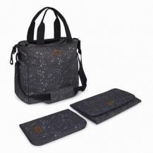 Bolso cochecito + cambiador + portadocumentos weekend constellation gris
