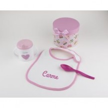 Cajita a comer! rosa personalizada