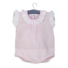 Body camisa s/manga rosa