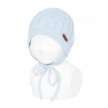 Gorro ochos con orejeras color 410 azul bebé