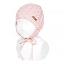 Gorro ochos con orejeras color 500 rosa