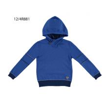 Jersey tricotosa azulón con capucha