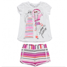 Conjunto camiseta + short multicolor