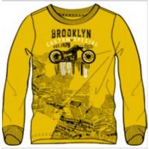 Camiseta manga larga mostaza moto