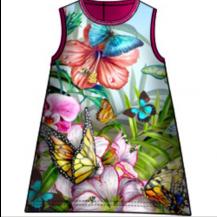 Vestido sin mangas fucsia flores