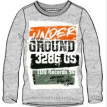 Camiseta manga larga gris ground