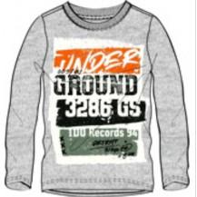 Camiseta manga larga gris ground