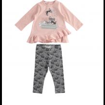 Conjunto leggins rosa lazos y lentejuelas