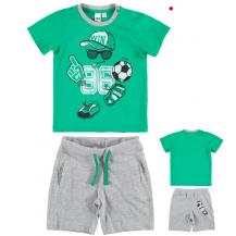 Conjunto bermuda y camiseta verde gorra