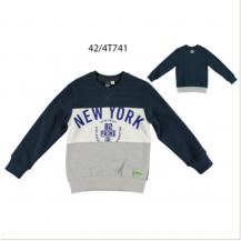 Sudadera marino y gris New York